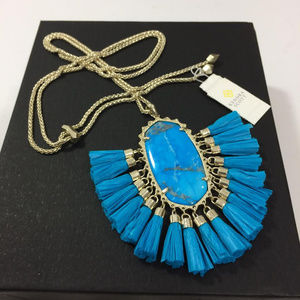 New Kendra Scott Betsy Tassle Turquois Necklace